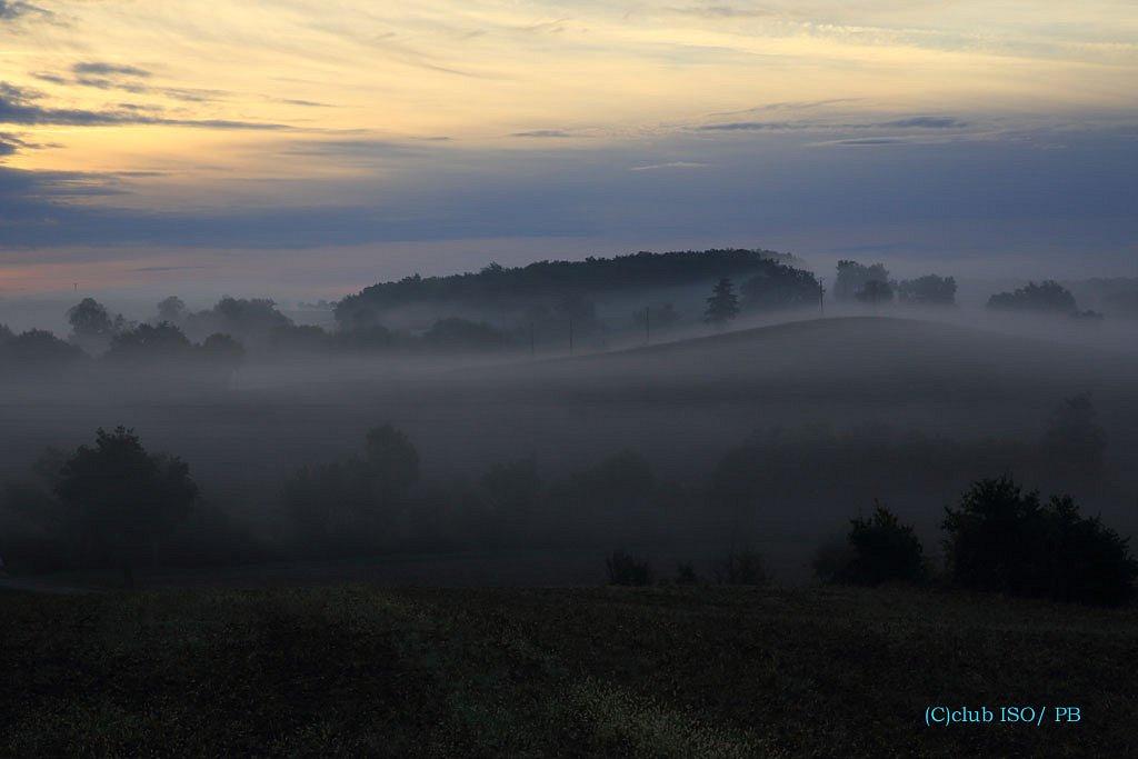 La campagne Gersoise dans la brume