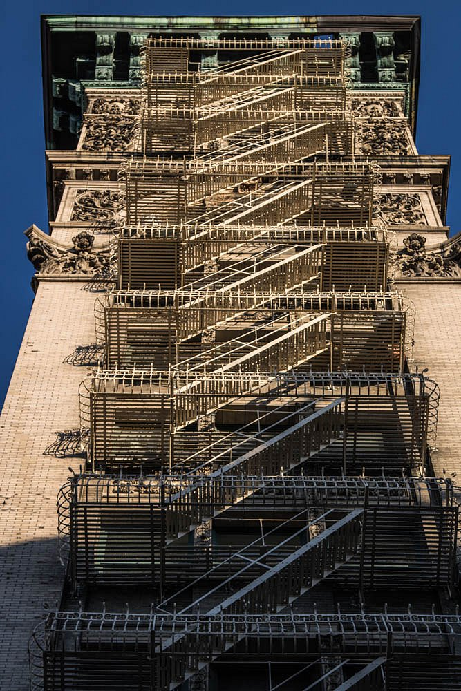 Escalier de métal