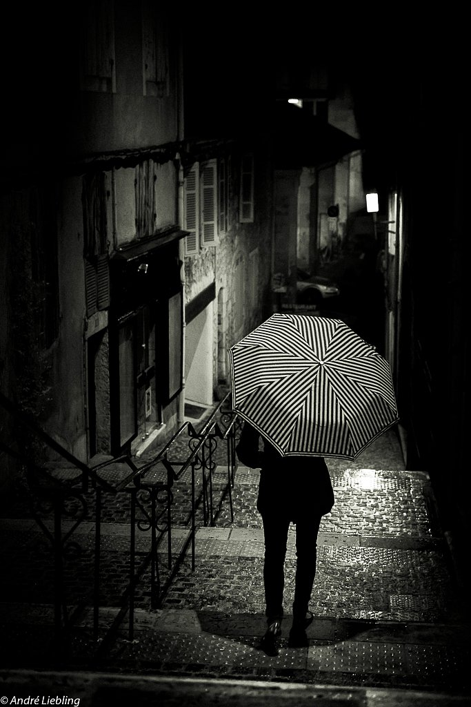 A girl with an umbrella